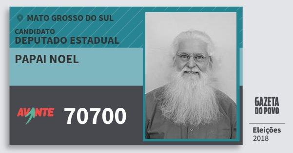 Santinho Papai Noel 70700 (AVANTE) Deputado Estadual   Mato Grosso do Sul   Eleições 2018