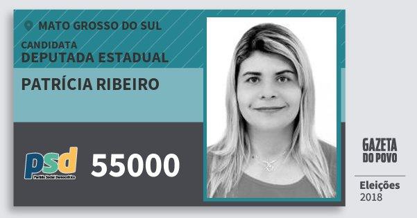 Santinho Patrícia Ribeiro 55000 (PSD) Deputada Estadual   Mato Grosso do Sul   Eleições 2018