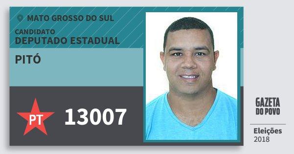 Santinho Pitó 13007 (PT) Deputado Estadual | Mato Grosso do Sul | Eleições 2018