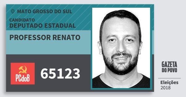 Santinho Professor Renato 65123 (PC do B) Deputado Estadual | Mato Grosso do Sul | Eleições 2018