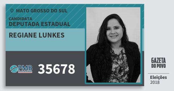 Santinho Regiane Lunkes 35678 (PMB) Deputada Estadual | Mato Grosso do Sul | Eleições 2018