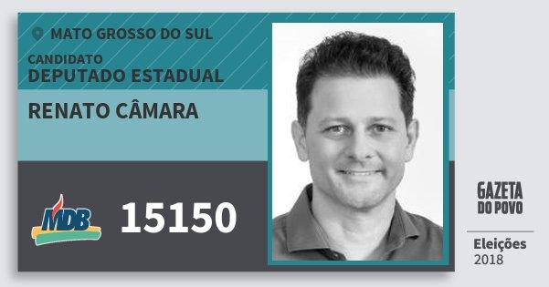 Santinho Renato Câmara 15150 (MDB) Deputado Estadual | Mato Grosso do Sul | Eleições 2018