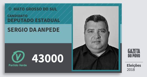 Santinho Sergio da Anpede 43000 (PV) Deputado Estadual   Mato Grosso do Sul   Eleições 2018