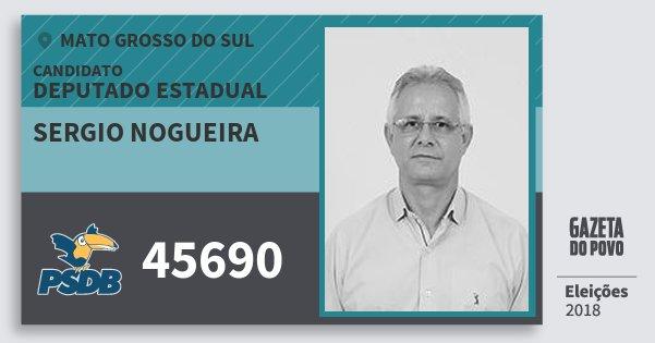 Santinho Sergio Nogueira 45690 (PSDB) Deputado Estadual | Mato Grosso do Sul | Eleições 2018