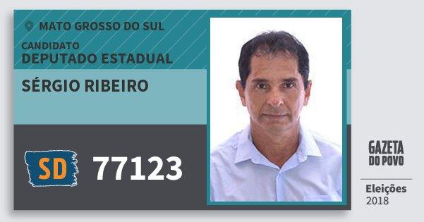 Santinho Sérgio Ribeiro 77123 (SOLIDARIEDADE) Deputado Estadual | Mato Grosso do Sul | Eleições 2018