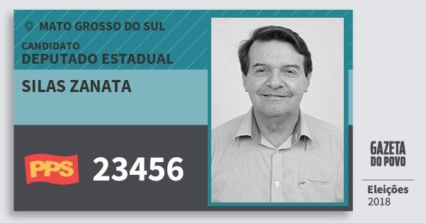 Santinho Silas Zanata 23456 (PPS) Deputado Estadual | Mato Grosso do Sul | Eleições 2018