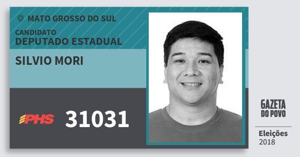 Santinho Silvio Mori 31031 (PHS) Deputado Estadual | Mato Grosso do Sul | Eleições 2018