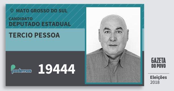 Santinho Tercio Pessoa 19444 (PODE) Deputado Estadual | Mato Grosso do Sul | Eleições 2018