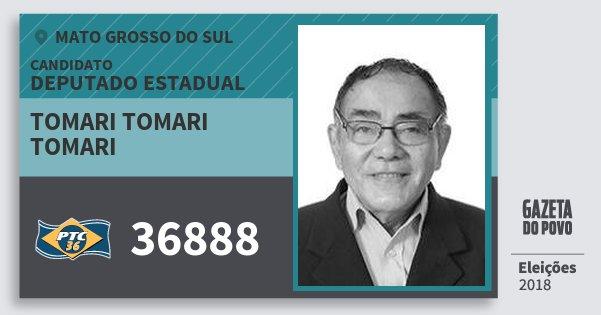 Santinho Tomari Tomari Tomari 36888 (PTC) Deputado Estadual | Mato Grosso do Sul | Eleições 2018