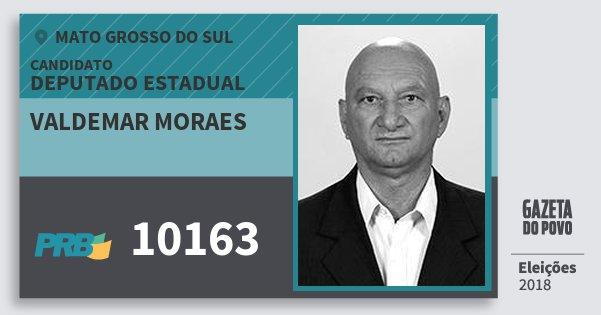 Santinho Valdemar Moraes 10163 (PRB) Deputado Estadual | Mato Grosso do Sul | Eleições 2018