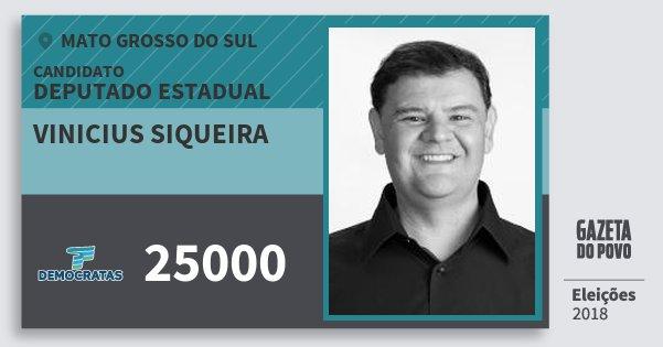 Santinho Vinicius Siqueira 25000 (DEM) Deputado Estadual | Mato Grosso do Sul | Eleições 2018