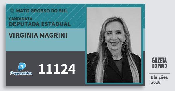 Santinho Virginia Magrini 11124 (PP) Deputada Estadual | Mato Grosso do Sul | Eleições 2018