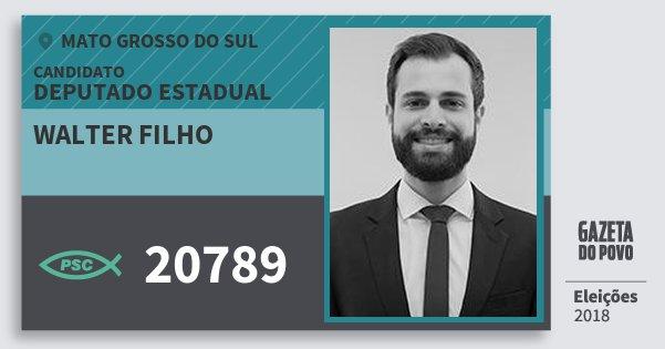 Santinho Walter Filho 20789 (PSC) Deputado Estadual | Mato Grosso do Sul | Eleições 2018