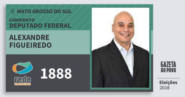 Santinho Alexandre Figueiredo 1888 (REDE) Deputado Federal | Mato Grosso do Sul | Eleições 2018
