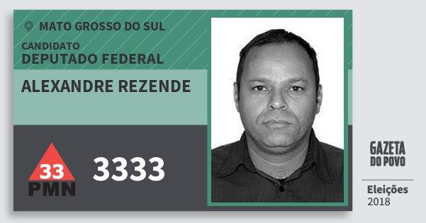 Santinho Alexandre Rezende 3333 (PMN) Deputado Federal | Mato Grosso do Sul | Eleições 2018