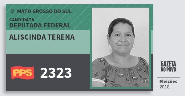 Santinho Aliscinda Terena 2323 (PPS) Deputada Federal | Mato Grosso do Sul | Eleições 2018