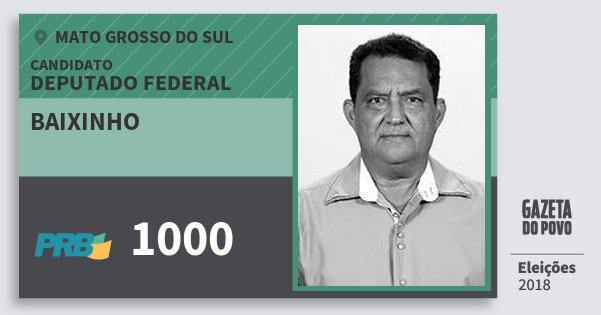 Santinho Baixinho 1000 (PRB) Deputado Federal | Mato Grosso do Sul | Eleições 2018