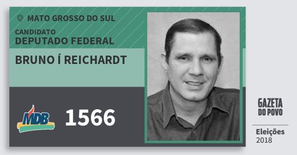 Santinho Bruno Í Reichardt 1566 (MDB) Deputado Federal | Mato Grosso do Sul | Eleições 2018