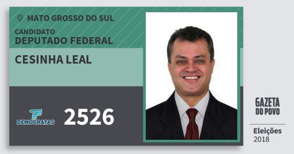 Santinho Cesinha Leal 2526 (DEM) Deputado Federal | Mato Grosso do Sul | Eleições 2018