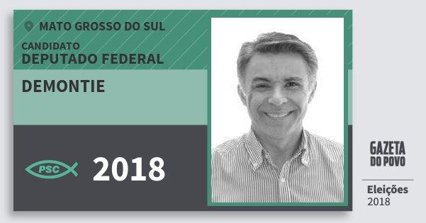 Santinho Demontie 2018 (PSC) Deputado Federal | Mato Grosso do Sul | Eleições 2018