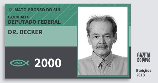 Santinho Dr. Becker 2000 (PSC) Deputado Federal | Mato Grosso do Sul | Eleições 2018