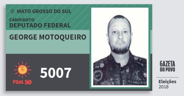 Santinho George Motoqueiro 5007 (PSOL) Deputado Federal | Mato Grosso do Sul | Eleições 2018