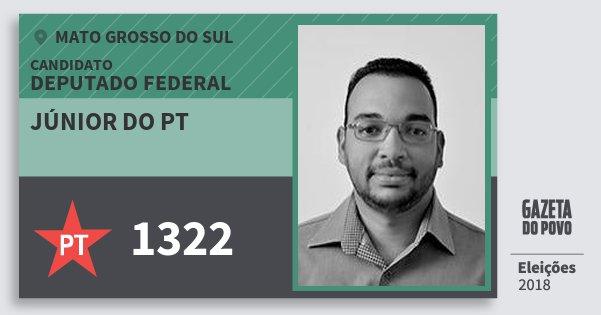 Santinho Júnior do Pt 1322 (PT) Deputado Federal | Mato Grosso do Sul | Eleições 2018