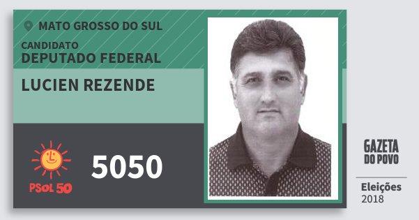 Santinho Lucien Rezende 5050 (PSOL) Deputado Federal | Mato Grosso do Sul | Eleições 2018