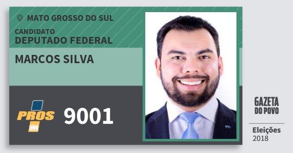 Santinho Marcos Silva 9001 (PROS) Deputado Federal | Mato Grosso do Sul | Eleições 2018