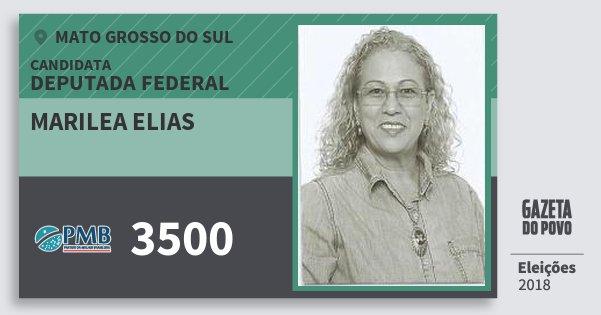Santinho Marilea Elias 3500 (PMB) Deputada Federal | Mato Grosso do Sul | Eleições 2018