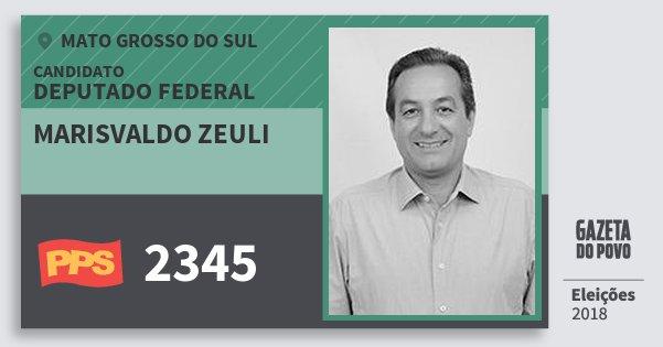 Santinho Marisvaldo Zeuli 2345 (PPS) Deputado Federal | Mato Grosso do Sul | Eleições 2018
