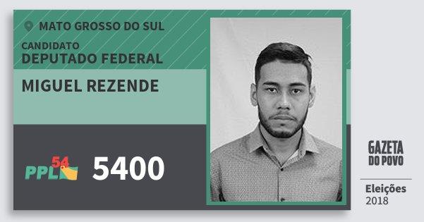 Santinho Miguel Rezende 5400 (PPL) Deputado Federal | Mato Grosso do Sul | Eleições 2018