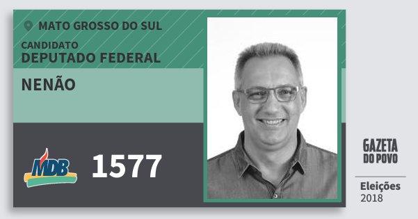 Santinho Nenão 1577 (MDB) Deputado Federal | Mato Grosso do Sul | Eleições 2018