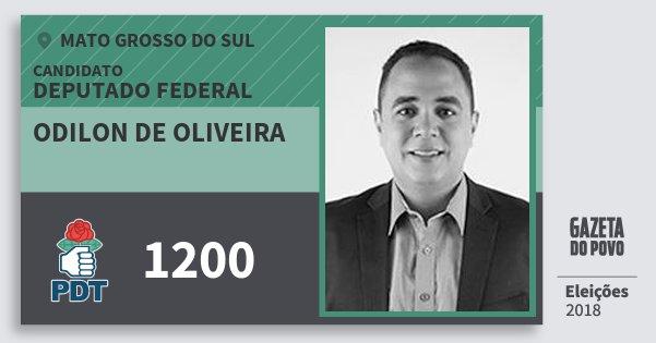 Santinho Odilon de Oliveira 1200 (PDT) Deputado Federal | Mato Grosso do Sul | Eleições 2018
