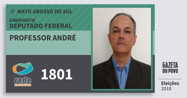 Santinho Professor André 1801 (REDE) Deputado Federal | Mato Grosso do Sul | Eleições 2018
