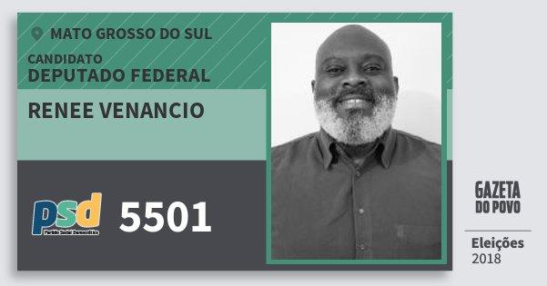 Santinho Renee Venancio 5501 (PSD) Deputado Federal | Mato Grosso do Sul | Eleições 2018