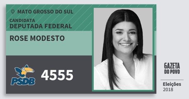 Santinho Rose Modesto 4555 (PSDB) Deputada Federal | Mato Grosso do Sul | Eleições 2018