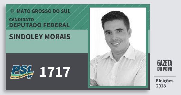 Santinho Sindoley Morais 1717 (PSL) Deputado Federal | Mato Grosso do Sul | Eleições 2018