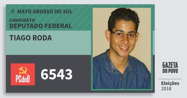Santinho Tiago Roda 6543 (PC do B) Deputado Federal | Mato Grosso do Sul | Eleições 2018