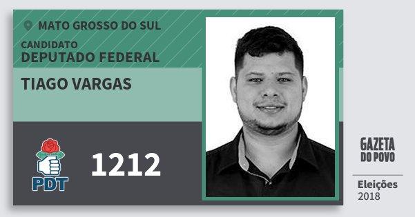 Santinho Tiago Vargas 1212 (PDT) Deputado Federal | Mato Grosso do Sul | Eleições 2018