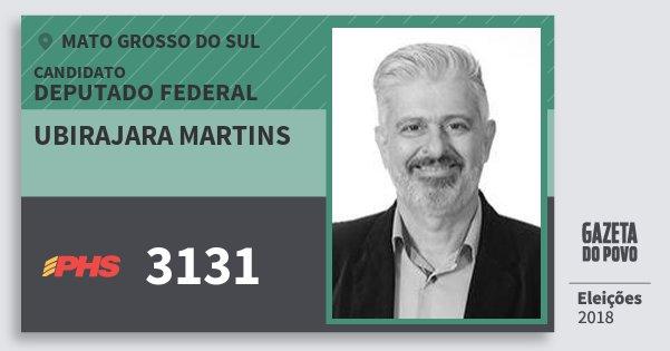 Santinho Ubirajara Martins 3131 (PHS) Deputado Federal | Mato Grosso do Sul | Eleições 2018