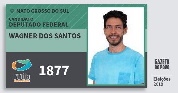 Santinho Wagner dos Santos 1877 (REDE) Deputado Federal | Mato Grosso do Sul | Eleições 2018