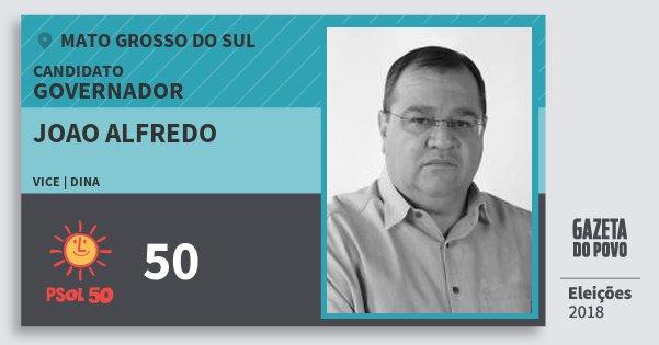 Santinho Joao Alfredo 50 (PSOL) Governador | Mato Grosso do Sul | Eleições 2018