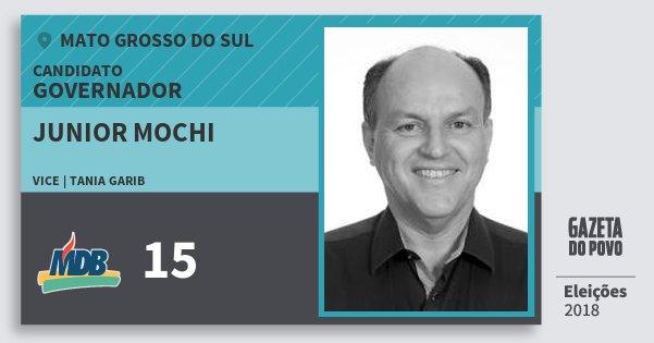 Santinho Junior Mochi 15 (MDB) Governador   Mato Grosso do Sul   Eleições 2018