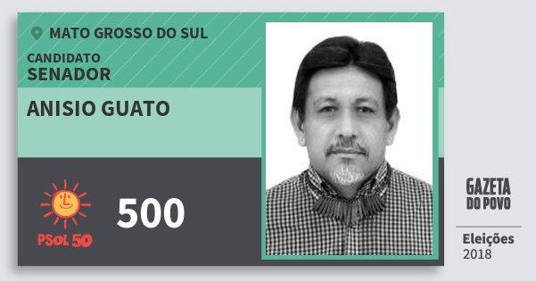 Santinho Anisio Guato 500 (PSOL) Senador | Mato Grosso do Sul | Eleições 2018