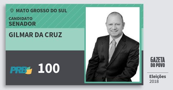 Santinho Gilmar da Cruz 100 (PRB) Senador | Mato Grosso do Sul | Eleições 2018
