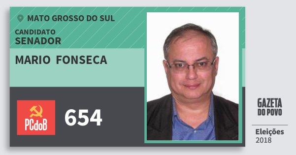 Santinho Mario  Fonseca 654 (PC do B) Senador | Mato Grosso do Sul | Eleições 2018