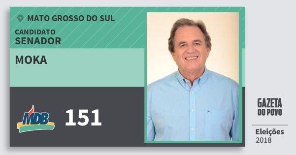 Santinho Moka 151 (MDB) Senador | Mato Grosso do Sul | Eleições 2018