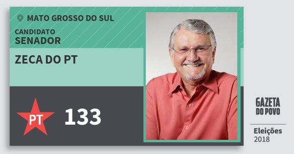 Santinho Zeca do Pt 133 (PT) Senador | Mato Grosso do Sul | Eleições 2018