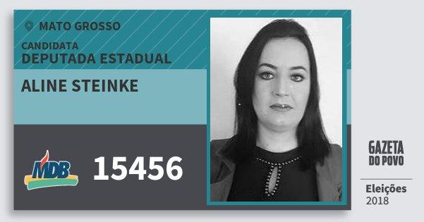 Santinho Aline Steinke 15456 (MDB) Deputada Estadual | Mato Grosso | Eleições 2018